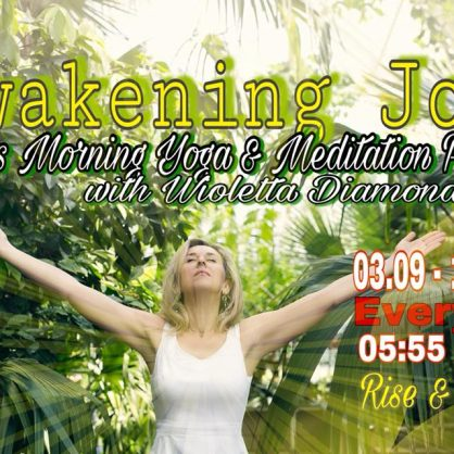 RISE & SHINE IV - 40 days morning yoga practice 19.02-30.03.2018