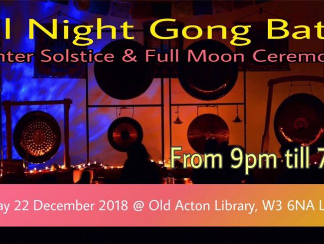 All Night Gong Bath – Winter Solstice & Full Moon in Cancer