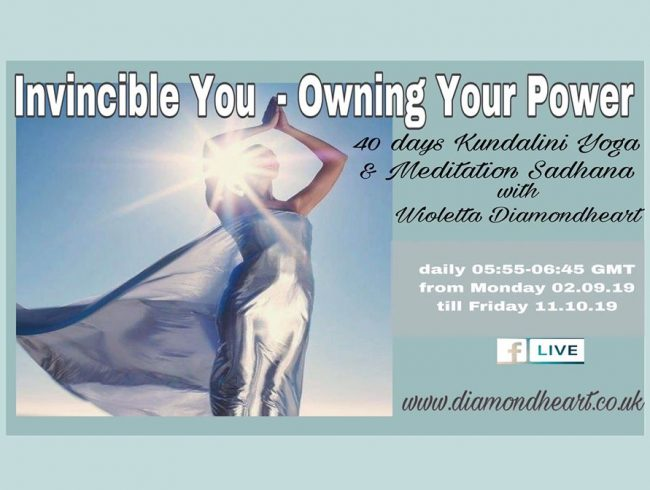 Invincible You – Owning Your Power  40 day Kundalini Yoga and Meditation life on FB