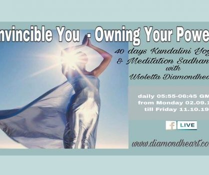 Invincible You - Owning Your Power  40 day Kundalini Yoga and Meditation live on FB