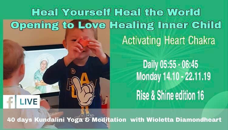 40 days on-line yoga & meditation Activating Heart Chakra