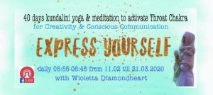 EXPRESS YOURSELF 40 days morning yoga & mediation live on fb