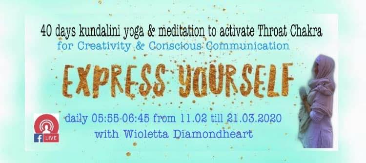 Express Yourself 40 days morning yoga & mediation live on Facebook